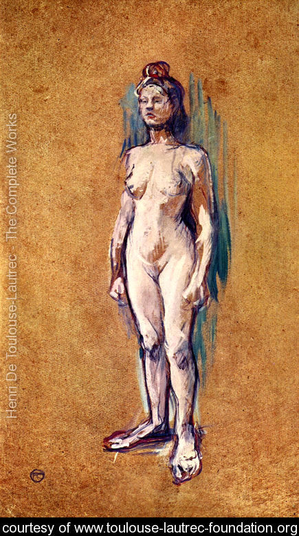 A nude woman by Toulouse-Lautrec